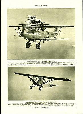 Publicité Ancienne Biplaces Militaires 1932 Issue De Magazine Modieuze En Aantrekkelijke Pakketten