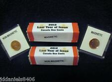 2 Rolls of 2012 Canadian Farewell To Pennies Last Year 1 Magnetic & 1 Non-Mag
