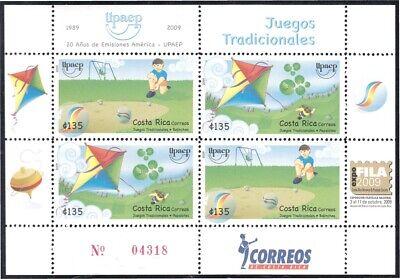 Costa Rica 904 05 2009 America Upaep Juegos Tradicionales Mnh Ebay