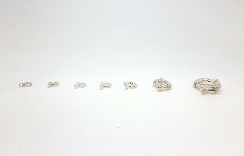 Spring ring Sterling Silver Bolt Rings In Various Sizes 925 Stamp