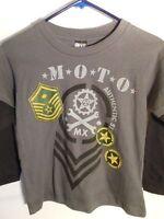 Boys Shirts T-shirts Moto Mx 3 In 1 Spy Kit Shirts Boys Clothes Beanie Hats 2 Pc