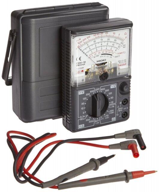Hioki 3030-10 Analógico Multímetro Hitester 600v Ac Medidor con Seguimiento