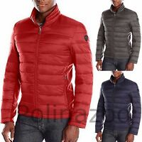 Guess Men's Jacket Lightweight Puffer Winter Black Navy Gray Red Coat $200
