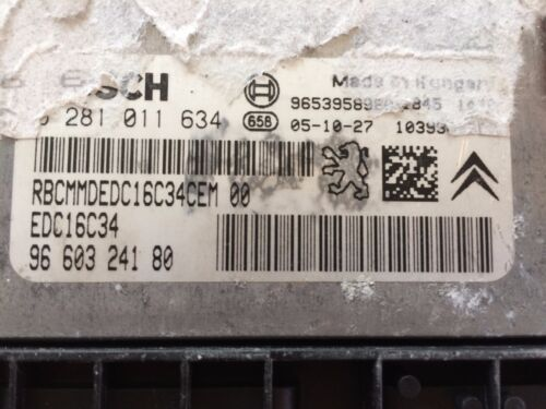 Peugeot Citroen Bosch 0281011634 9660324180 Immo Apagado Plug and Play EDC16C34