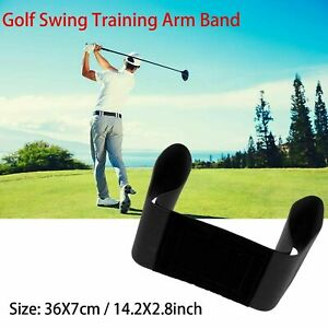 Details About Pro Golf Swing Arm Band Training Aid For Golf Beginners Unisex Black Adjustable