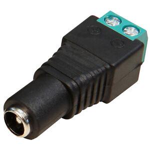 DC Adapter Terminal Buchse Kupplung weiblich 5,5 x 2,1mm Lüsterklemme 2 Kontakte