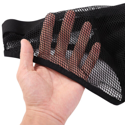 Mens Wetlook Leather Jock Strap Ruffled Bulge Pouch Panties Underwear G-string