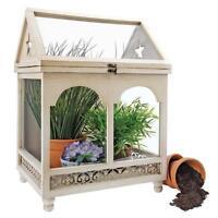 19th Century British Replica Indoor Wooden Terrarium Greenhouse Plant Case