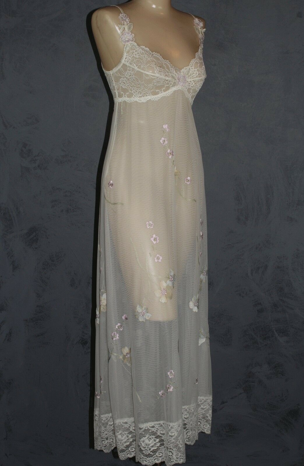 Claire Pettibone Gown Bridal Couture Melody Ivory Long Lace + Robe S New  420