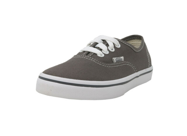 VANS Authentic Lo Pro Pewter Gray White Lace Up Kid Sneakers Boy Child Shoes f664aff92
