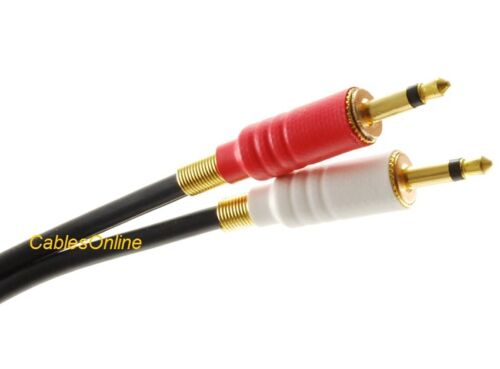 Mono 3.5mm Black Audio Cable 6ft 3.5mm Stereo Male to Dual Red//White