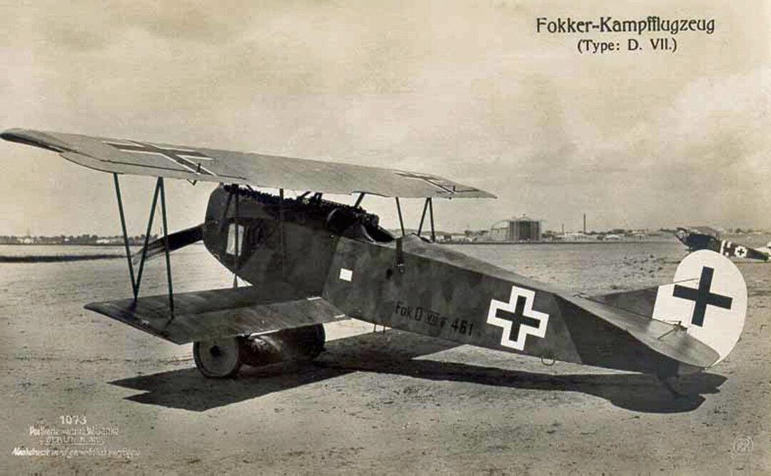 Fokker d.viii (spannweite 1370 mm).modellbauplan mit laserteilen