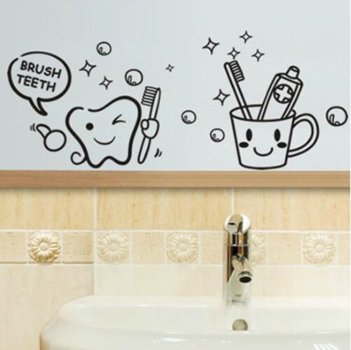 Creative Funny Wall Stickers Bathroom Glass Door Stickers Cute Children Shower For Sale Online