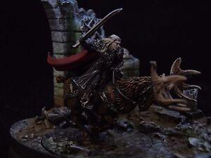 Pro Painted - Le Hobbit Thranduil, royaume du royaume des bois, sur le wapiti