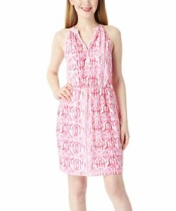 Pink-Lattice-Print-Teagan-Dress-by-Mud-Pie-Size-Small-NWT