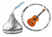 216 Guitar Musician Birthday Party Favors Hershey Kiss Labels