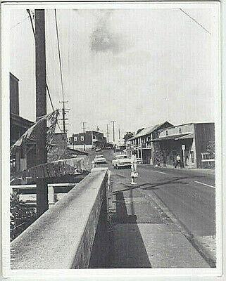 "RARE ABE/'S CHEVRON 1950/'s HALEIWA HAND PRINTED SILVER HALIDE PHOTO ON 8X10/"" MAT"