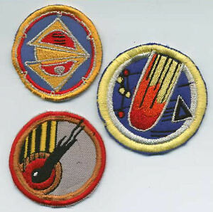 Set-of-3-Babylon-5-Embroidered-Squadron-Patches-Comet-Delta-Split-World