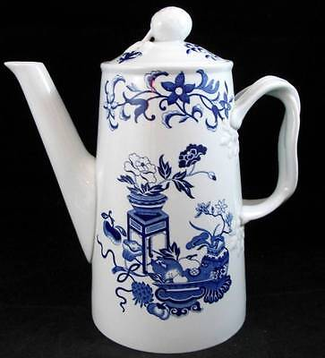 Spode BLUE BOWPOT Coffee Pot Finestone GREAT CONDITION