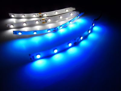 RC Blue and White Underbody LED Strip Lights Superbright Car Truck Quadcopter