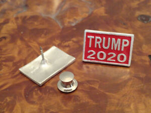 Gunther-Grant-TRUMP-2020-sterling-silver-lapel-hat-pin-USA-a