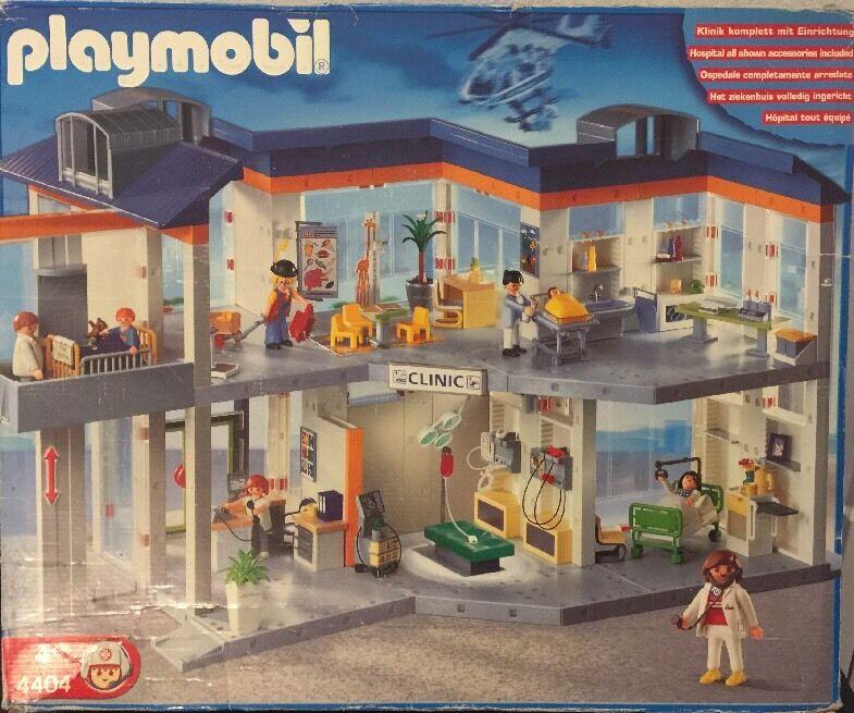 Playmobil 4404 Hospital 4425 Nurse Baby Incubator 4236 Nurse Man In Wheelchair