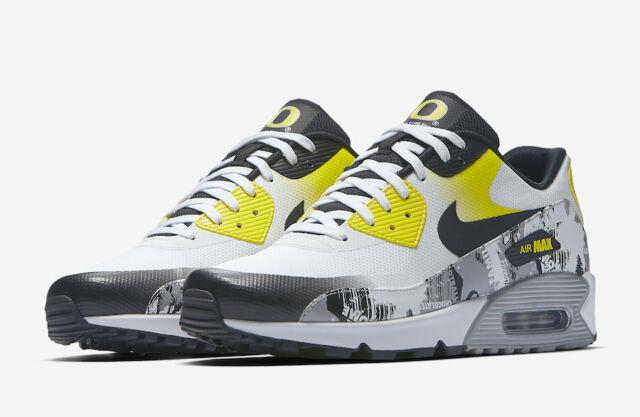 Nike Doernbecher Air Max 90 Premium DB Oregon Ducks White Yellow AH6830 100 Sz 7
