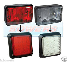 LAND ROVER DEFENDER RECTANGULAR LED REAR FOG & REVERSE LAMPS LIGHTS UPGRADE KIT