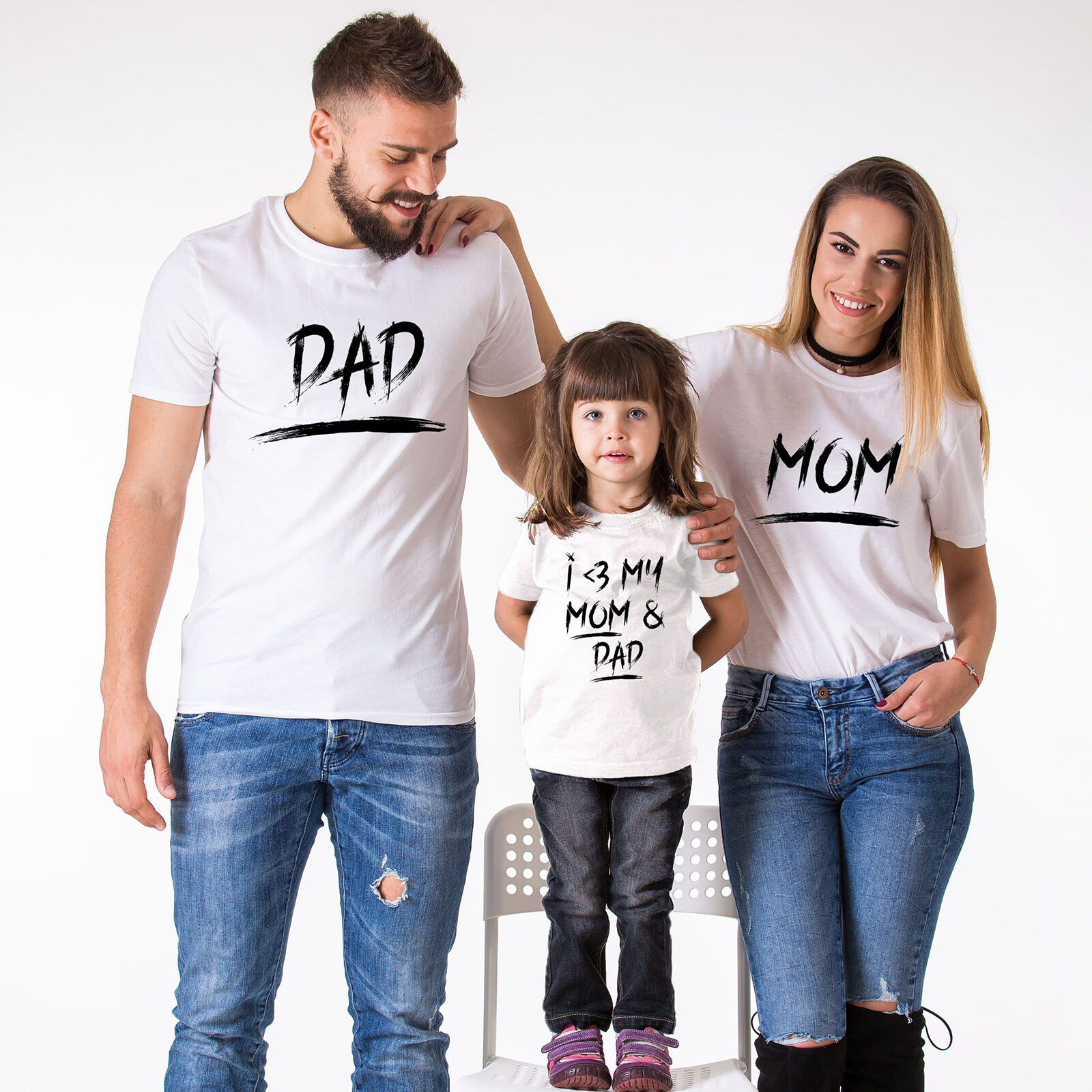 500c31345400 Details about Matching Family Clothes Mommy Daddy Toddler Kid Baby T-shirt  Family Outfits NEW