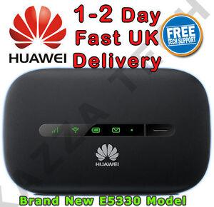 Details about HUAWEI E5330 UNLOCKED BLACK HSPA+ Mobile MIFI WIFI 3G 4G  Wireless Modem Sim Free