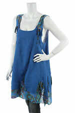 PURO LINO MADE IN ITALY 100% LINEN LAGENLOOK TUNIC  TUNIKA NEW WITH TAGS