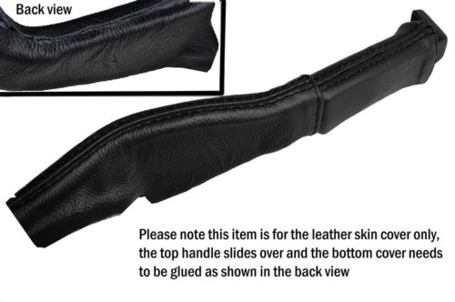BLACK LEATHER EBRAKE BOOT SKIN COVERS FITS CORVETTE C4