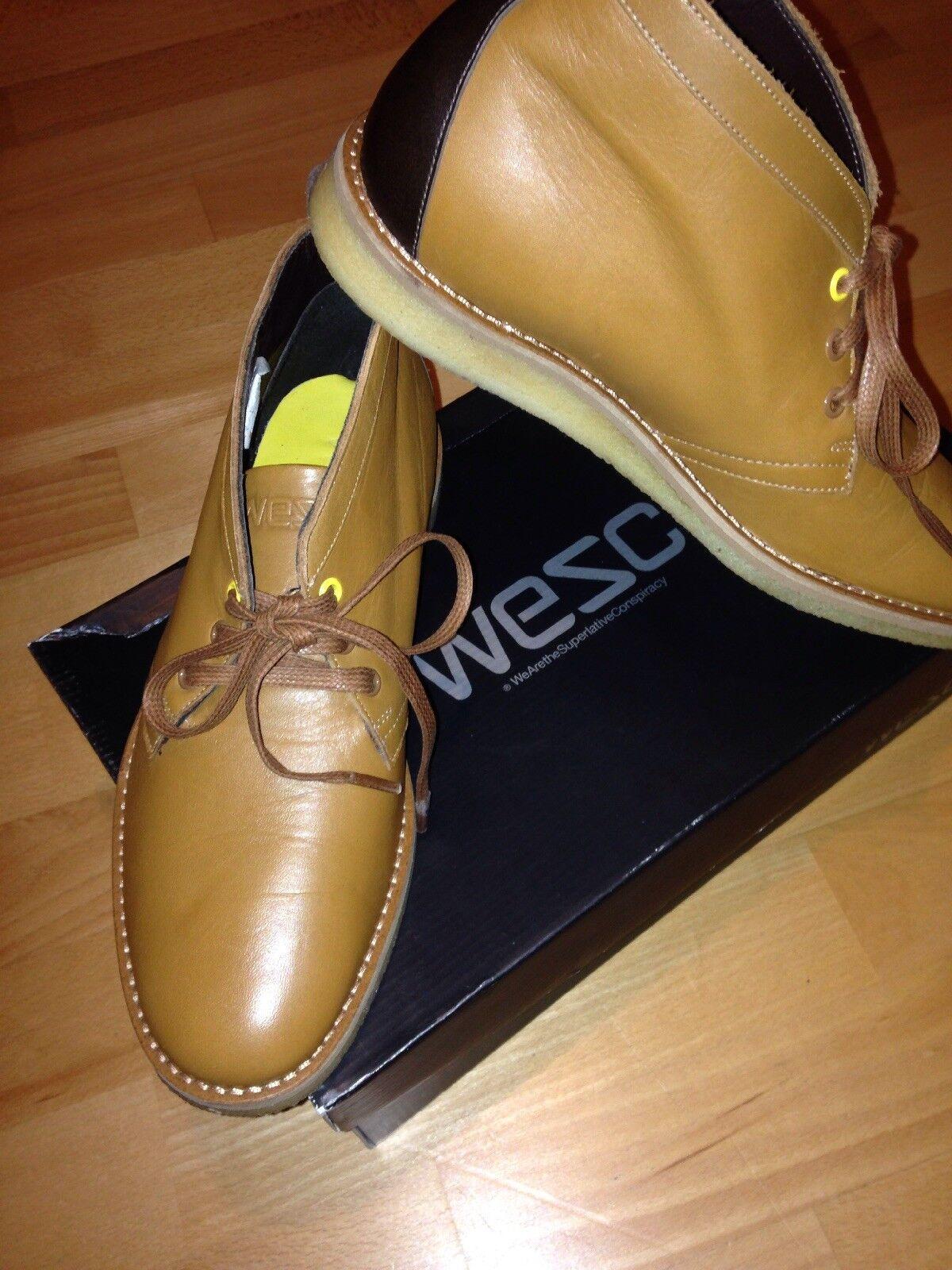 WESC, Sneaker, Gr. 41, Mod.: Lawrence, Farbe: Walnut, Rindleder, handmade, Neu