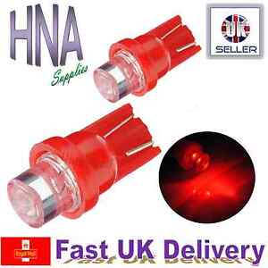 2 x 501 T10 W5W Car LED  RED XENON Side Light Interior Bulbs Concave UK a