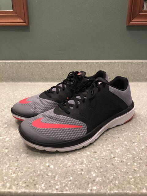 save off c5b96 70774 Nike FS Lite Run 3 Size US 11.5 M Men's Running Shoes Black/Grey 807144-002