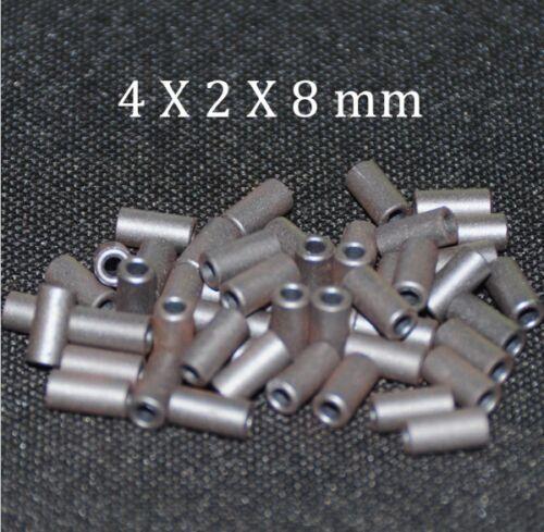 50pcs Ferrite Core EMI Filter 4X2X8mm Ferrite Cores Ring Anti-Parasitic Toroide