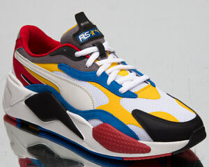 Details about Puma RS-X3 Puzzle Men's White Yellow Black Athletic Low  Lifestyle Sneakers Shoes