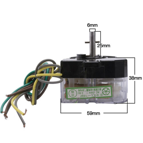 15 minutes washing machine timer switch six wires 180 degree central hole 70mm