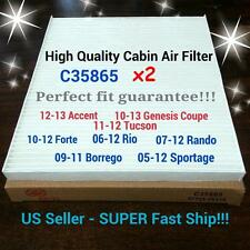 x2 FORTE 10-13,TUCSON 11-15,SPORTAGE 05-16,RIO CABIN AIR FILTER 35865 SAVE $$$$