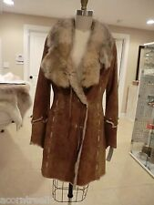 Shearling Deer Fur Coat, Made in Italy Original Price $8,500 Size S-M, 4-8.