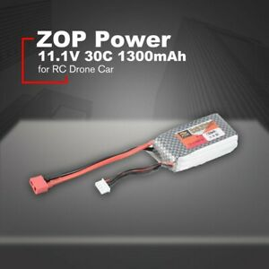 ZOP-Power-11-1V-1300mAh-30C-3S-Battery-T-Plug-fuer-RC-Drone-FPV-Quadcopter-amp-Auto