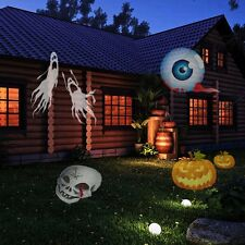 E-COM Halloween Christmas Projector Lamp 12 Colorful Patterns Replaceable Lens