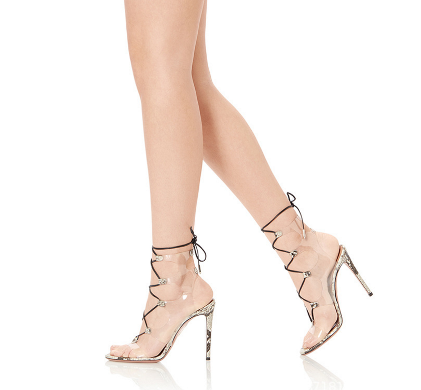 Sexy Womens Oxford Lace Up European Sandals Roman High Heel shoes Uk Sz35-46