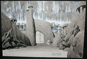 Ghosbusters Movie Set Design Concept Art - 1980s Signed art by Bernie Wrightson