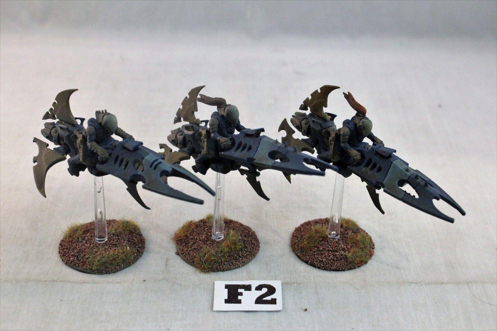 Warhammer DARK ELDAR Reaver jetbikes bien pintados
