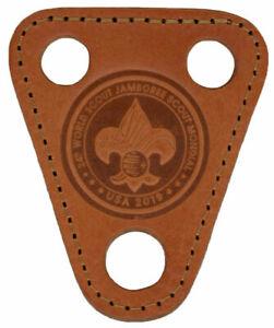 2019-Official-World-Scout-Jamboree-Mondial-Leather-Neckerchief-Slide-IST-WSJ-BSA
