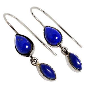 Lapis-Afghanistan-925-Sterling-Silver-Earrings-Jewelry-32288E