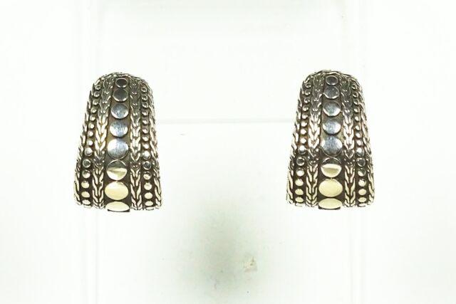 db779c245 John Hardy Dot Collection Sterling Silver 18k Gold Hoop Earrings for ...