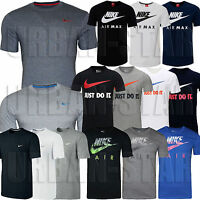 New Mens Nike Grey Retro Gym Sports Tee T-Shirt Vintage Top Size S M L XL