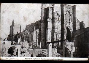 RAMBERCOURT-aux-POTS-55-MILITAIRE-devant-Ruines-de-l-039-EGLISE-en-1915
